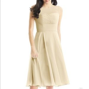 Azazie Champagne Scarlett Bridesmaids Dress NWOT